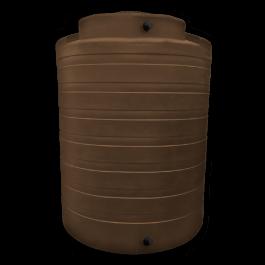 4050 Gallon Dark Brown Vertical Water Storage Tank
