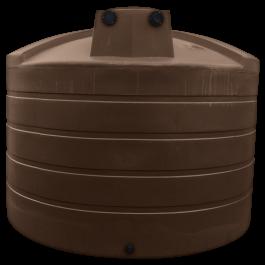 5000 Gallon Dark Brown Rainwater Collection Storage Tank