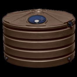 660 Gallon Dark Brown Rainwater Collection Storage Tank