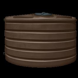 1110 Gallon Dark Brown Vertical Water Storage Tank