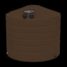 1320 Gallon Dark Brown Rainwater Collection Storage Tank