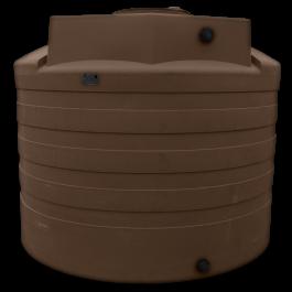 2650 Gallon Dark Brown Vertical Water Storage Tank