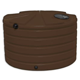 1110 Gallon Dark Brown Rainwater Collection Storage Tank
