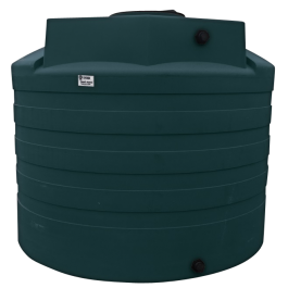 2650 Gallon Green Vertical Water Storage Tank