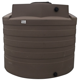 2650 Gallon Mocha Rainwater Collection Storage Tank
