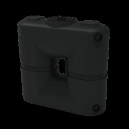 130 Gallon Black Slimline Rainwater Storage Tank
