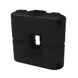 130 Gallon Black Slimline Water Storage Tank