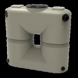 130 Gallon Mocha Slimline Rainwater Storage Tank