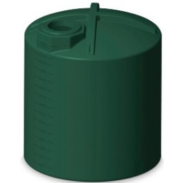 3000 Gallon Green Vertical Water Storage Tank