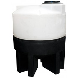 75 Gallon Chem-Tainer Cone Bottom Tank with Poly Stand