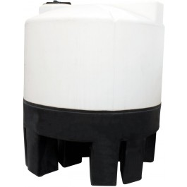 100 Gallon Chem-Tainer Cone Bottom Tank with Poly Stand