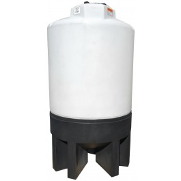 300 Gallon Chem-Tainer Cone Bottom Tank with Poly Stand