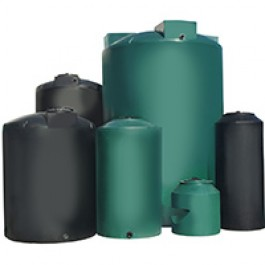 55 Gallon Black Vertical Water Storage Tank