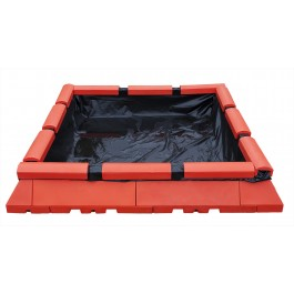 Modular Open Top Containment Tank System for up to 17000 Gallon Tank