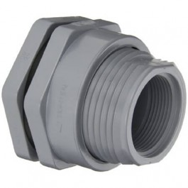 "1"" CPVC Female NPT Bulkhead Fitting w/ EPDM Gasket"