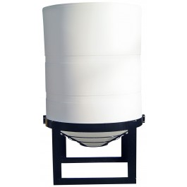 450 Gallon Cylindrical Cone Bottom Tank