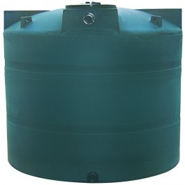 1000 Gallon Green Vertical Water Storage Tank