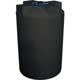 130 Gallon Black Vertical Water Storage Tank