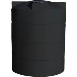 1500 Gallon Black Vertical Water Storage Tank