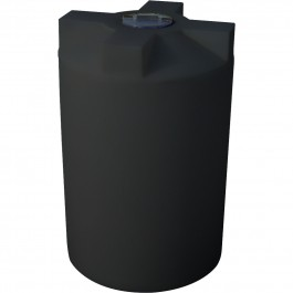 220 Gallon Black Vertical Water Storage Tank