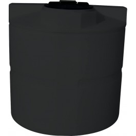 330 Gallon Black Vertical Water Storage Tank