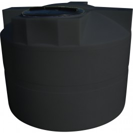 525 Gallon Black Vertical Water Storage Tank