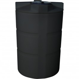 550 Gallon Black Vertical Water Storage Tank