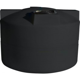 750 Gallon Black Vertical Water Storage Tank