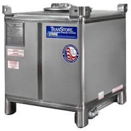140 Gallon 304 Stainless Steel IBC Tote Tank