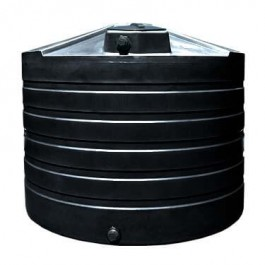 1320 Gallon Black Vertical Water Storage Tank