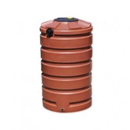 205 Gallon Brick Red Vertical Water Storage Tank