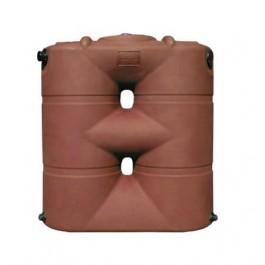 265 Gallon Brick Red Slimline Water Storage Tank