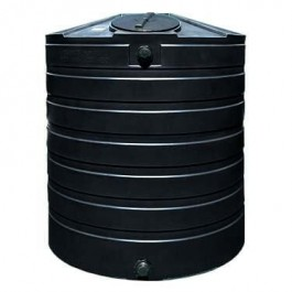 865 Gallon Black Vertical Water Storage Tank