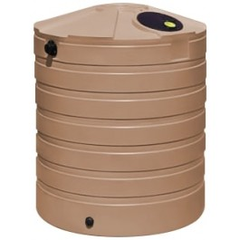865 Gallon Mocha Vertical Water Storage Tank