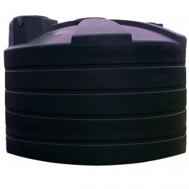 5000 Gallon Black Rainwater Collection Storage Tank