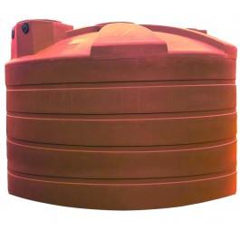 5000 Gallon Brick Red Rainwater Collection Storage Tank