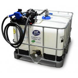 135 Gallon DEF IBC Tote with 12V Easy Caddy & RPV Top Suction