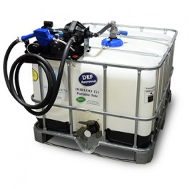 135 Gallon DEF IBC Tote with 110V Easy Caddy & RPV Top Suction
