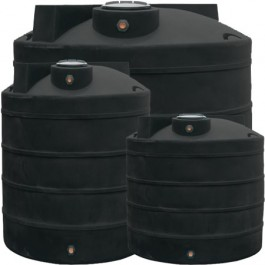 325 Gallon Black Vertical Water Storage Tank
