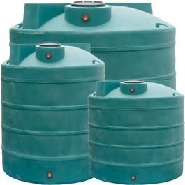 1500 Gallon Dark Green Vertical Water Storage Tank