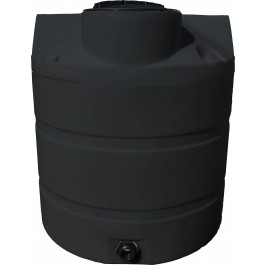 650 Gallon Black Vertical Water Storage Tank