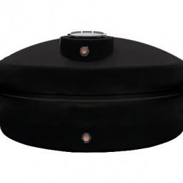 500 Gallon Black Vertical Water Storage Tank