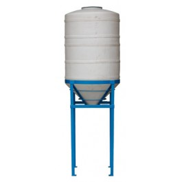 350 Gallon Heavy Duty Cone Bottom Tank with Stand