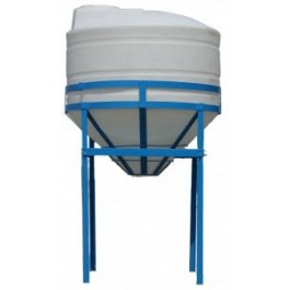 700 Gallon Heavy Duty Cone Bottom Tank with Stand