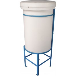 100 Gallon Cone Bottom Tank with Stand