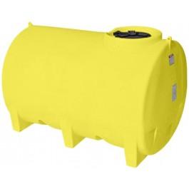 1100 Gallon Yellow Horizontal Leg Tank