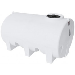 1200 Gallon White Horizontal Leg Tank