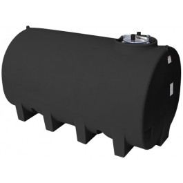 2200 Gallon Black Horizontal Leg Tank