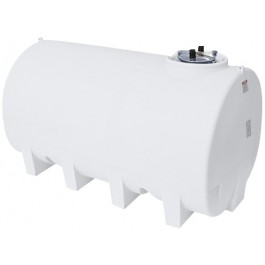 2200 Gallon White Horizontal Leg Tank