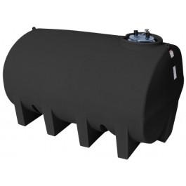 2500 Gallon Black Horizontal Leg Tank